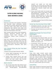 SISTEM KLIRING NASIONAL BANK INDONESIA (SKNBI)