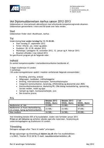 Aarhus - IAA Marketing Management