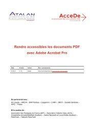 Rendre accessibles les documents PDF avec Adobe ... - AcceDe PDF