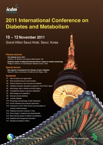 Final Announcement - 2011 International Conference on Diabetes ...