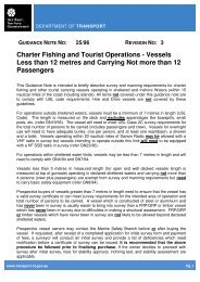 3 Charter Fishing and Tourist Operations - Vessels Less than 12 ...