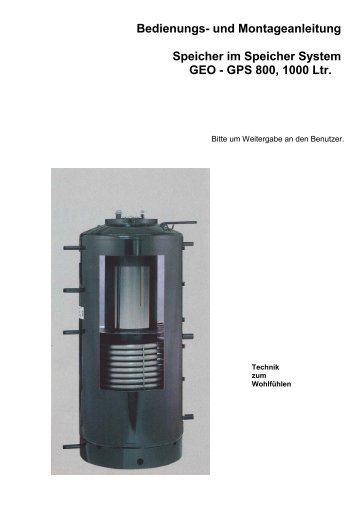 Bedienungs- und Montageanleitung Speicher im Speicher System ...
