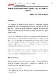A IMPORTÂNCIA DO PAPEL DAS PESSOAS NA CADEIA DE ...