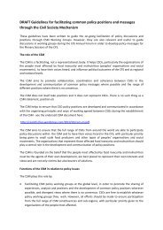DRAFT Guidelines for facilitating common policy positions ... - CSM