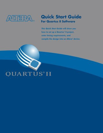 Quartus II Quick Start Guide - Altera