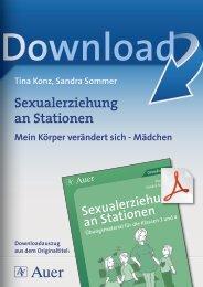 Sexualerziehung an Stationen - Auer Verlag