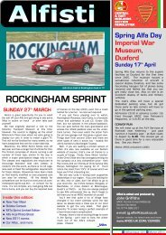 ROCKINGHAM SPRINT - Alfa Romeo Owners Club