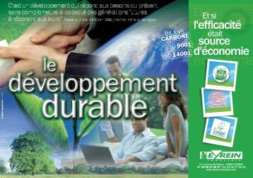 dossier developpement durable - Eyrein-industrie