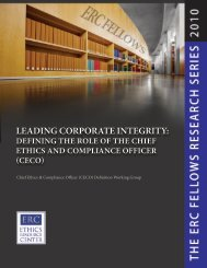 Leading Corporate Integrity - Ethics Resource Center