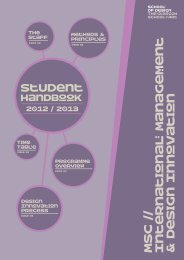 Msc Student Handbook - The Glasgow School of Art