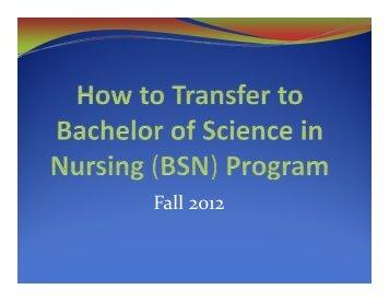 How to Transfer as a Nursing Major