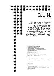 G.U.N, Galleri Uten Navn (Oslo, Norway) - Sparwasser HQ