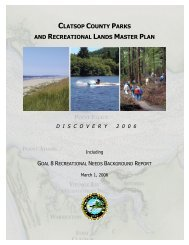 clatsop county parks and recreational lands master plan