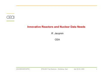 Innovative Reactors and Nuclear Data Needs - efnudat