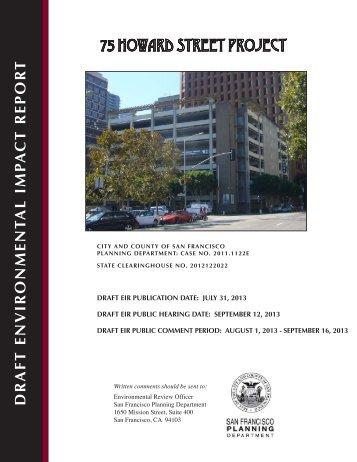 Draft EIR - San Francisco Planning Department