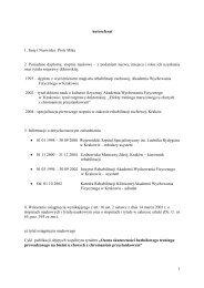 autoreferat PL - Akademia Wychowania Fizycznego we Wrocławiu