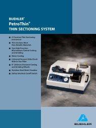 BUEHLER® Petrothin® THIN SECTIONING SYSTEM