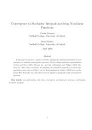 Convergence to Stochastic Integrals involving Non-linear Functions