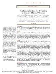 Pioglitazone for Diabetes Prevention in Impaired Glucose Tolerance