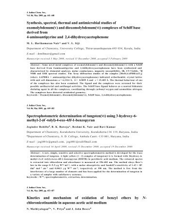 Abstracts of Journal of Indian Chemical Society Vol.86, May 2009 ...