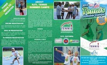 Download Registration Brochure - Memphis Public Tennis Centers