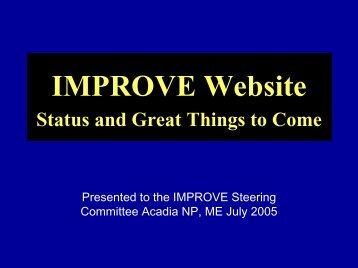 MPROVE & VIEWS web sites