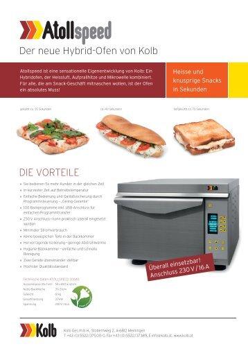 Der neue Hybrid-Ofen von Kolb DIE VORTEILE