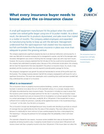 What every insurance buyer needs to know about the co ... - Zurich