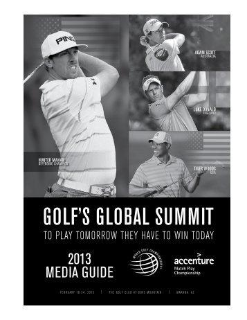 GOLF'S GLOBAL SUMMIT - PGA TOUR Media