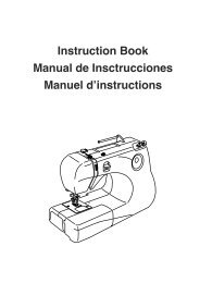 Instruction Book Manual de Insctrucciones Manuel d ... - Janome