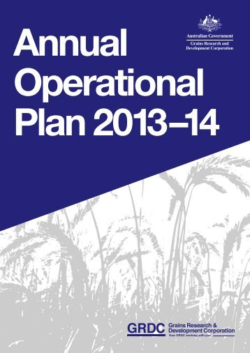 GRDC Annual Operational Plan 2013-14 - Grains Research ...