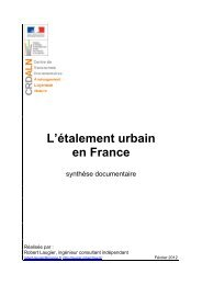 L'étalement urbain en France - Centre de documentation de l ...