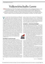 Volkswirtschafts-Leere - Dieter Schnaas
