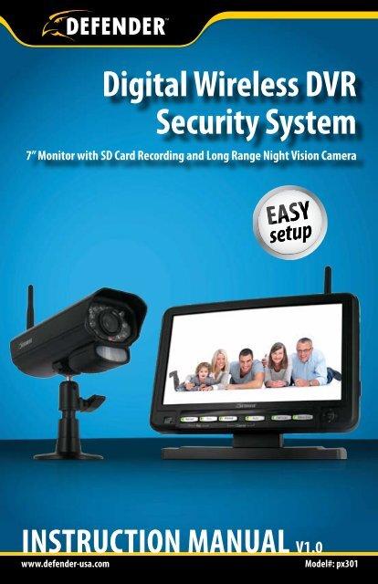 Digital Wireless DVR Security System