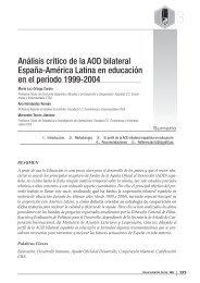 Análisis crítico de la AOD bilateral España-América Latina en ...