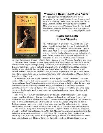 Wisconsin Read - Jane Austen Society of North America Wisconsin ...