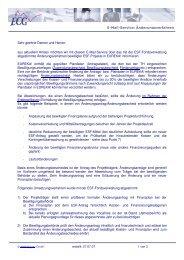 E-Mail-Service; Änderungsverfahren Sehr ... - ECG GmbH Berlin