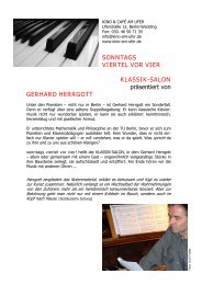 gerhard herrgott - Kino & Café am Ufer