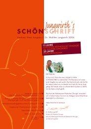 Jungwirth´s SCHÖN SCHRIFT - Plastische Chirurgie Dr. Walther ...
