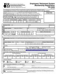 Employees' Retirement System Membership Registration RS 5420 1 ...