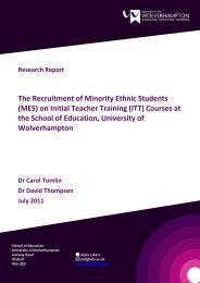 MES Report Final v0.99 C - University of Wolverhampton
