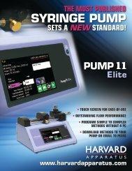 to download the Pump 11 Elite Brochure - Harvard Apparatus