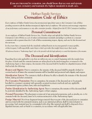 Cremation Code of Ethics