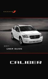 2011 Dodge Caliber User Guide