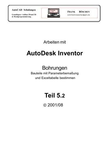AutoDesk Inventor Teil 5.2 - VHS-DH.de