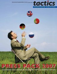 PRESS PACK 2007 - Tactics Magazine