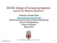 memory Systems 2 - Brown University