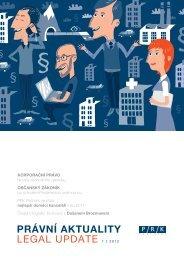 PRÁVNÍ AKTUALITY LEGAL UPDATE 1 / 2012 - PRK Partners