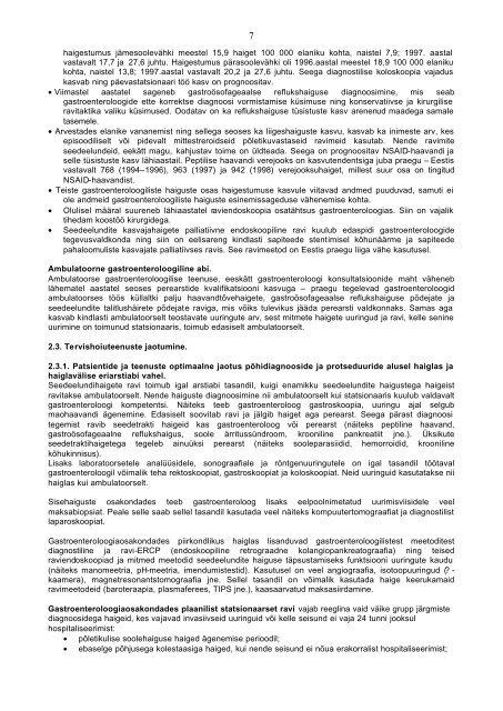 GASTROENTEROLOOGIA ERIALA ARENGUKAVA. 1. Eriala ...
