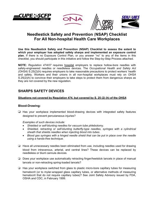 needlestick safety and prevention